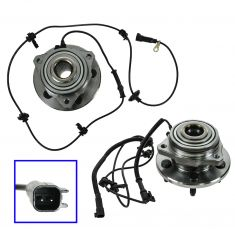 02-07 Jeep Liberty Front Hub & Bearing Assy w/ABS Pair