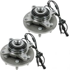 03-06 Ford Expedition, Lincoln Navigator 4WD Front Wheel Bearing & Hub PAIR