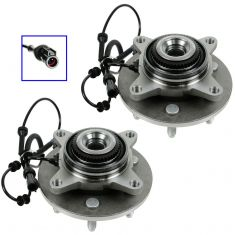 04-(thru 11/28/04) Ford F150 New Body 6 Stud 4WD Front Wheel Bearing & Hub PAIR