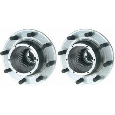 2005-10 Ford F250SD F350SD w/DRW 4WD AWAL Front Wheel Bearing & Hub PAIR