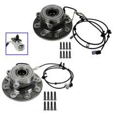 98-99 Dodge Ram 2500 Pickup 4x4 w/ABS & SRW Hub & Bearing Assy PAIR