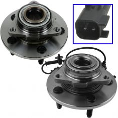 06-08 Dodge 1500 w/RWAL w/Engine Speed Sensor Front Wheel Hub & Bearing PAIR