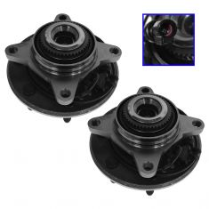 05 (from 11/30/04)-08 Ford F150 4WD (7 Lug) Front Wheel Bearing & Hub PAIR