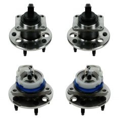 97-01 Buick, Cadillac, Olds, Pontiac Multifit Front & Rear Wheel Hub & Bearing Assemblies (Set of 4)