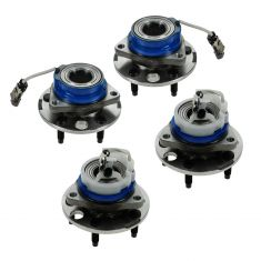 01-06 Buick, Chevy, Olds, Pontiac AWD Multifit Front & Rear Wheel Hub & Bearing (Set of 4)