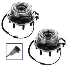 11-12 Ford F250SD, F350SD (w/4WD & SRW) Front Wheel Bearing & Hub Assy PAIR