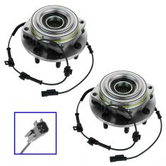 11-12 Ford F350SD (w/4WD & DRW) Front Wheel Bearing & Hub Assy PAIR