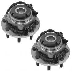 99-04 Ford F250SD-F550SD w/2WD & ABS Front Wheel Hub & Bearing Assembly PAIR