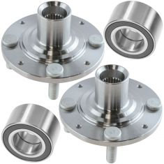 92-98 Honda Civic; 99-00 Civic (exc Si); 93-97 Civic Del Sol Front Wheel Bearing & Hub Kit PAIR