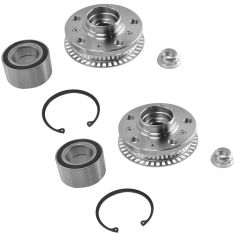 99-07 VW Golf, Jetta, Beetle Front Wheel Bearing & Hub Kit Pair