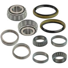81-02 E250 Van, 85-02 E350 Van,00-01 E450 Van Inner & Outer Wheel Bearings & Seal & Race 8 Piece Kit