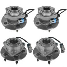 05-06 Chevy Equinox; Pontiac Torrent; 02-07 Saturn Vue Front & Rear Wheel Bearing Kit (4pcs)