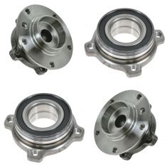 BMW 5 Series Front & Rear Wheel Hub Bearing Module Set of 4