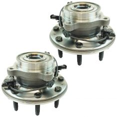 11-16 Chevy 3500 Front Wheel Hub & Bearing Assembly LH RH Pair