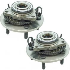 12-16 Ram 1500 w/ 4WD Front Wheel Hub & Bearing Assembly Pair