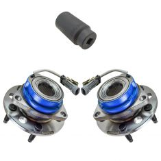 92-99 GM Cars Front Hub Bearing & ABS Sensor Pair with 34mm Socket