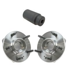 00-05 GM Midsize FWD Front Hub & Bearing w/o ABS Pair with 34mm Socket