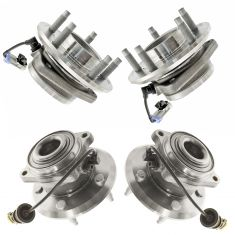 07-11 GM Mid Size SUV Front & Rear Wheel Hub & Bearing Kit (4pcs)