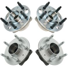 10-16 Chevy Equinox; GMC Terrain Front & Rear Wheel Hub & Bearing Kit (4pcs)