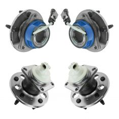 04-05 Buick Century; 97-04 Regal; 00-05 Chevy Impala; 97-02 GP Front & Rear Wheel Bearing Kit (4pcs)