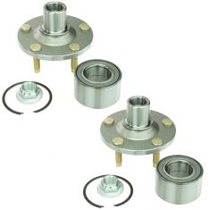 01-10 Mazda Tribute, Ford Escape; 05-10 Merc Mariner Front Hub & Bearing (Timken) PAIR
