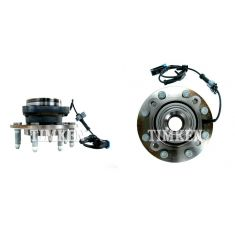 07-10 GM Full Size SUV & Truck 2500 Front Wheel Bearing & Hub PAIR (Timken)