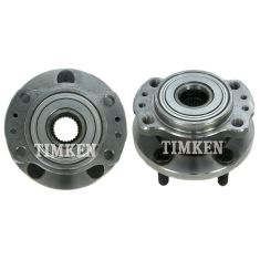 97-04 Chrysler Mini Van AWD Rear Wheel Bearing & Hub PAIR (Timken)