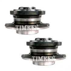 04-10 BMW 5, 6 Series w/RWD Front Wheel Bearing & Hub Assy PAIR (Timken)