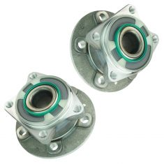 02-09 Volvo 60; 01-07 70; 04-06 80 Series w/AWD Rear Wheel Bearing & Hub Assy PAIR (Timken)