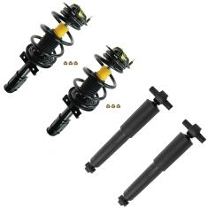 07-13 Acadia; 07-10 Outlook; 08-13 Enclave; 09-13 Traverse Front & Rear Complete Strut & Shock Kit