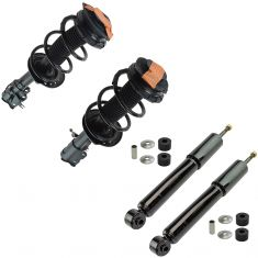 08-12 (to 11/09) Nissan Rogue Front Strut & Spring Assembly & Rear Shock Absorber Kit (Set of 4)