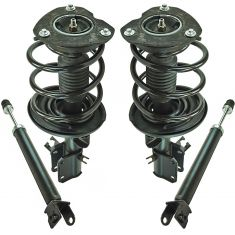 09-14 Nissan Maxima Front Strut & Spring Assembly & Rear Shock Absorber Kit (Set of 4)