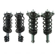 12-14 Honda CR-V (exc. Touring) AWD Front &  Rear Strut & Spring Assembly Kit (Set of 4)