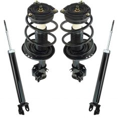 13-15 Nissan Altima 4dr Front Strut & Spring Assembly & Rear Shock Absorber Set (4pc)