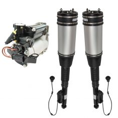 06 MB S350; 00-06 S430; 00-04 S500; Air Ride Compressor w/Rear Air Shocks Kit (3 Piece Set)