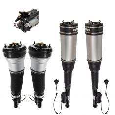 06 MB S350; 00-06 S430; 00-04 S500; Air Ride Compressor w/Front & Rear Air Shock Kit (5 Piece Set)