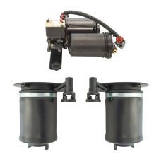 07-13 Ford Expedition, Lincoln Navigator Air Ride Compressor w/Rear Air Spring Kit (3 Piece Set)