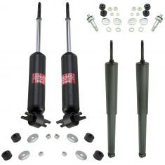 66-67 411; 67-69 Camaro, Firebird Front & Rear Shock Absorber Kit (Set of 4) (KYB Excel-G)