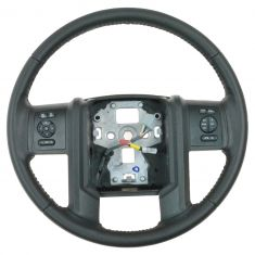 11-12 F250SD, F350SD, F450SD, F550SD (w/Cruise & Audio Opt) Charcoal Vinyl Steering Wheel (Ford)