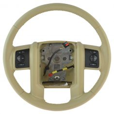08-10 Ford F250SD-F550SD Camel Leather Steering Wheel w/Cruise & Audio Controls (Ford)