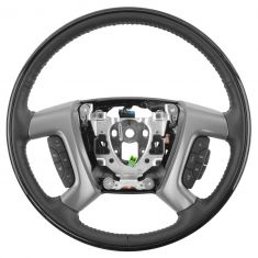 07-13 GM Full Size PU & SUV King Maple & Ebony Heated Steering Wheel w/Radio & Cruise Controls (GM)