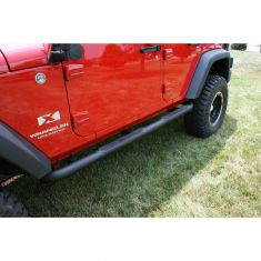 3-Inch Round Tube Steps, Black, 07-14 Jeep Wrangler Unlimited (JK)
