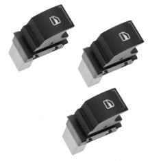 05-11 Volkswagen Multifit (One Button) Power Window Switch SET of 3