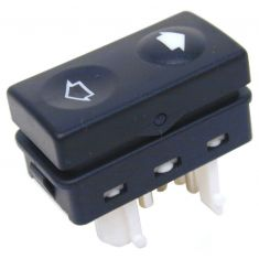 91-00 BMW 3 Series; 95-99 M3; 96-02 Z3 Single Button Power Wdw Switch (White Base)