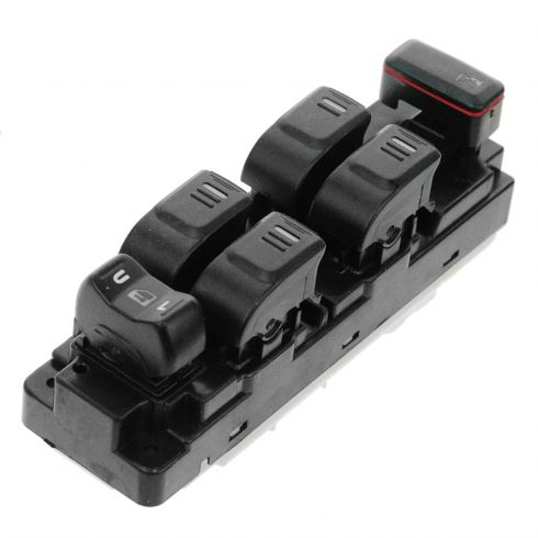 04-12 Colorado, Canyon Crew Cab; 06-10 Hummer H3; 09-10 H3T Master Power Window Switch LF