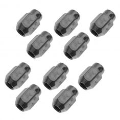 65-12 AMC, Ford, Jeep, GM, Ddge, Saab Multifit (1/2-20) Chrome Acorn (1 Piece) Wheel Nut (Box of 10)