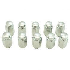 03-06 Infiniti; 98-10 Nissan Multifit (M12-1.25 x 41.7mm) Chrome Acorn Wheel Nut (Box of 10)