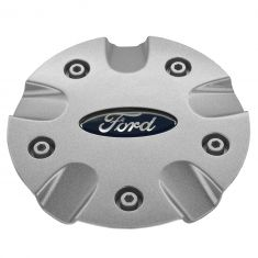 00-01 Focus (w/15 x 6, 10 Spoke (5 Doubles) Alum Wheel) Silver Sparkle Center Cap w/Blue Oval (Ford)
