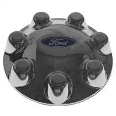 00-04 F150 Heritage; 98-99 F250LD (w/16 In 7 Lug Bright Whl) ~FORD~ Logoed Chrome Center Cap (Ford)