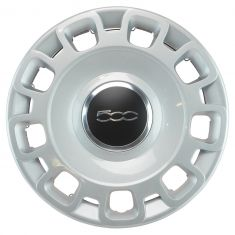 12-16 Fiat 500 Silver, Chrome, & Black w/~500~ Logoed Wheel Cover (Fiat)